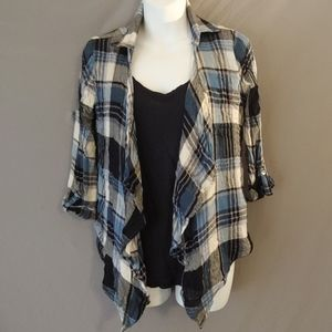 Plaid Top with Undershirt